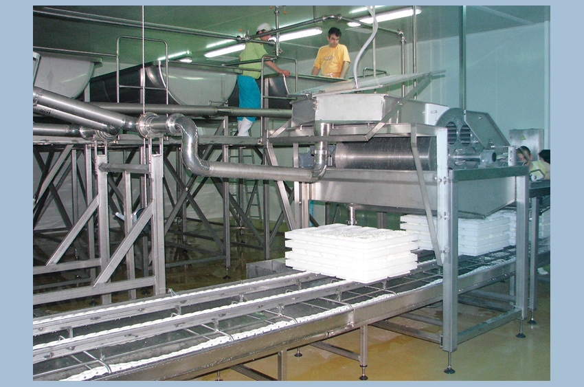 Soft cheese production line