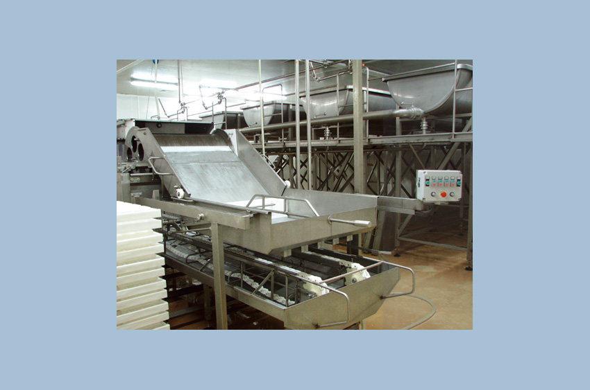 Soft cheeses production line