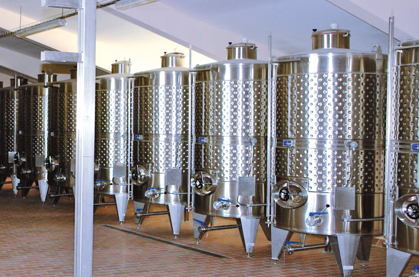 Fermentation units for white wines